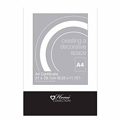 Home Collection Glass Clip Photo Frame A4 Certificate