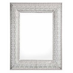 Marrakesh Metal Rectangular Mirror Silver