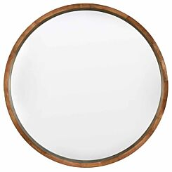 Rhonda Large Round Solid Wood Mirror 110cm