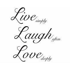 Live Laugh Love Quote Wall Decor