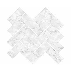 Herringbone Carrera Backsplash Tiles Wall Decor