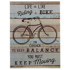 Premier Housewares Distressed Bike Wall Plaque