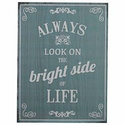 Premier Housewares Look On The Bright Side Wall Plaque