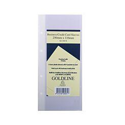 Goldline Business Card Binder Refill
