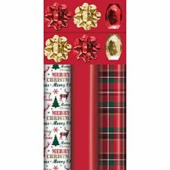 Tartan and Red Luxe Wrap Pack