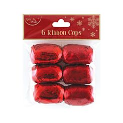 Gift Ribbon Roll Pack of 6 Red
