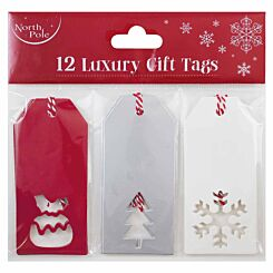Die Cut Contemporary Tags Pack of 12