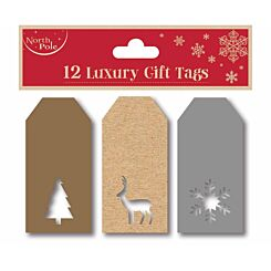 Die Cut Contemporary Tags Pack of 12 Gold