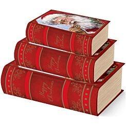 Santa Book Boxes Set of 3