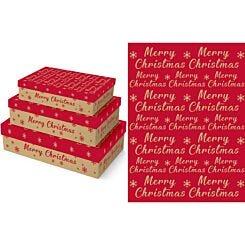 Kraft Gift Box Set of 3