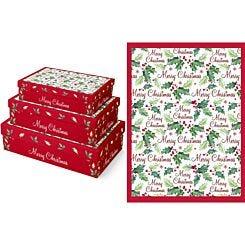 Holly Gift Box Set of 3