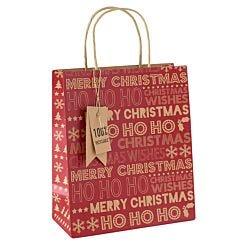 Medium Kraft Christmas Gift Bag