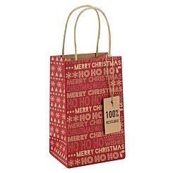 Kraft Christmas Perfume Gift Bag