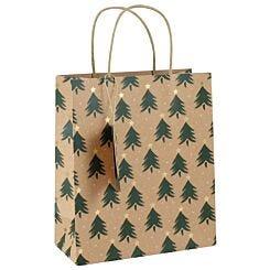 Large Kraft Christmas Tree Gift Bag