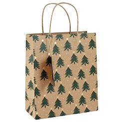 Medium Kraft Christmas Tree Gift Bag