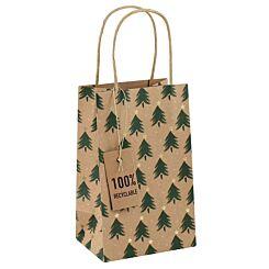 Kraft Christmas Tree Perfume Gift Bag