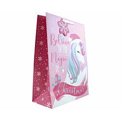 Unicorn Christmas Gift Bag Extra Large