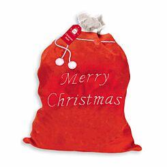Deluxe Embroidered Plush Santa Sack