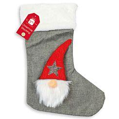Hessian Gonk Christmas Stocking