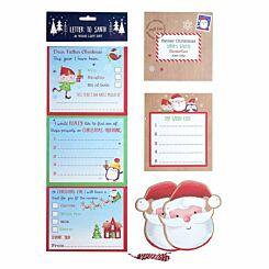 Letter to Santa and Christmas Wish List Set