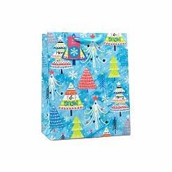 Neon Tree Christmas Gift Bag Large