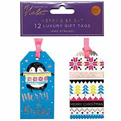 Merry and Bright Gift Tags 12 Pack