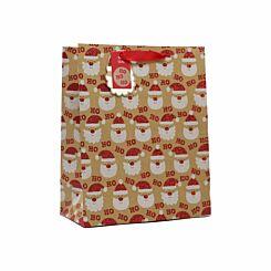 Kraft Santa Christmas Gift Bag Large