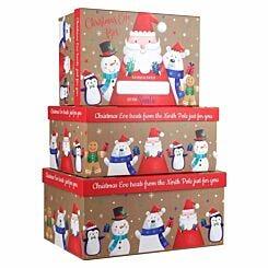 Santa and Friends Christmas Eve Box Large