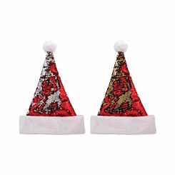 Santa Hat with Reversible Sequins