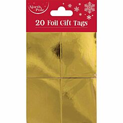 Foil Christmas Gift Tags Pack of 20