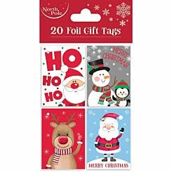 Cute Foil Christmas Gift Tags Pack of 20