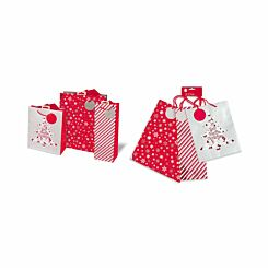 Contemporary Christmas Gift Bag Set Assorted Size