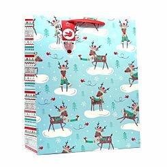 Reindeer Christmas Gift Bag Large