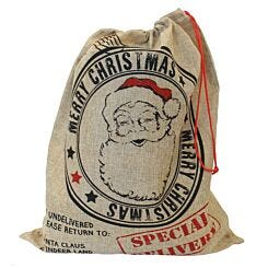 Large Hessian Santa Sack