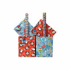Childrens Neon Christmas Gift Wrap Bundle