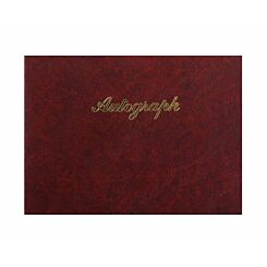 Esposti Autograph Book Leather Look Burgundy