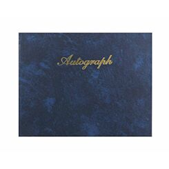 Esposti Autograph Book Leather Look Navy Blue