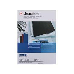 GBC Linen Covers A4 250gsm Pk100 White