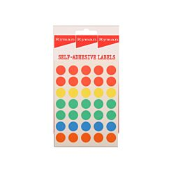 Ryman Assorted Dots 13mm Pack of 350