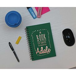 Heritage Personalised Notebook of Ideas in Copper Foil