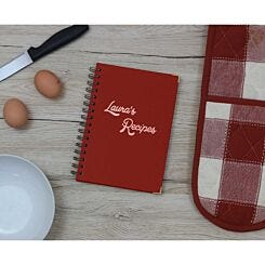 Heritage Personalised Notebook with 80s Font in Copper Foil Burgundy