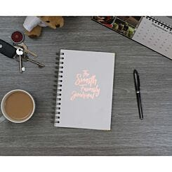 Heritage Personalised Notebook The Journal in Copper Foil White