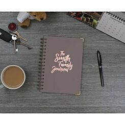 Heritage Personalised Notebook The Journal in Copper Foil Grey