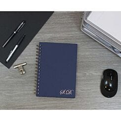 Heritage Personalised Notebook with Initials in Copper Foil Navy