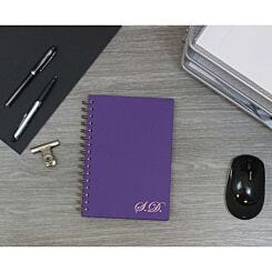 Heritage Personalised Notebook with Initials in Copper Foil Purple