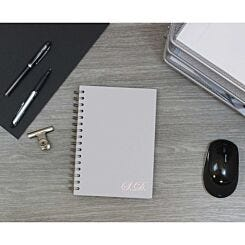 Heritage Personalised Notebook with Initials in Copper Foil White