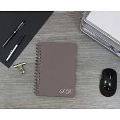 Heritage Personalised Notebook with Initials in Copper Foil Grey