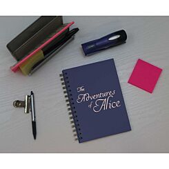 Heritage Personalised Notebook Adventures in Copper Foil Navy