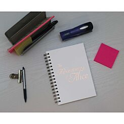 Heritage Personalised Notebook Adventures in Copper Foil White