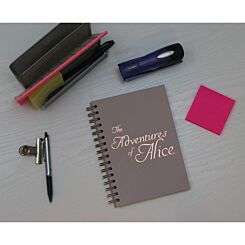 Heritage Personalised Notebook Adventures in Copper Foil Grey